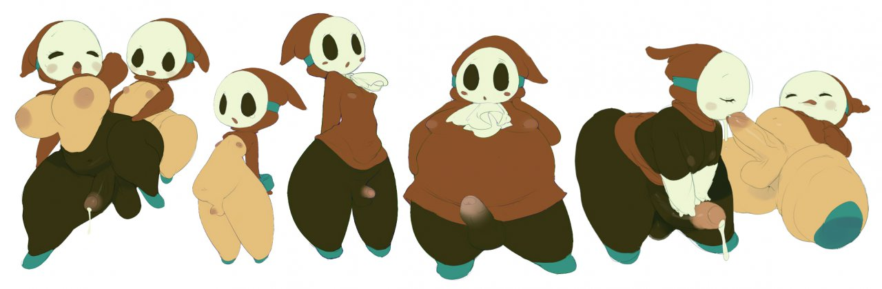 gal shy guy shy and Wii fit trainer