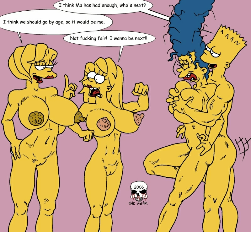marge simpson naked with bart My neighbor is a sissy comic